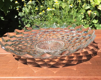 Vintage Glass Large Shallow Fruit Bowl - American-Clear by Fostoria