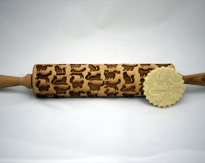PERSIAN CAT rolling pin, embossing rolling pin, engraved rolling pin for a gift, GIFT, gift ideas, gifts, unique, wedding