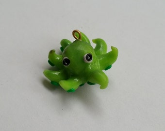 Green octopus charm