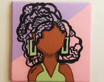 Natural Hair Magnet - Milan - Refrigerator Magnet - Curly Hair - Natural Hair Art