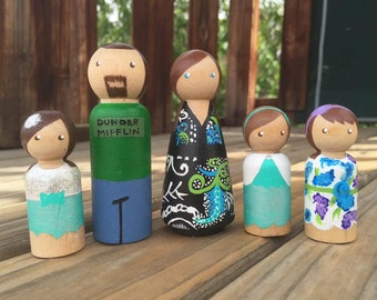 Custom Family Peg Dolls