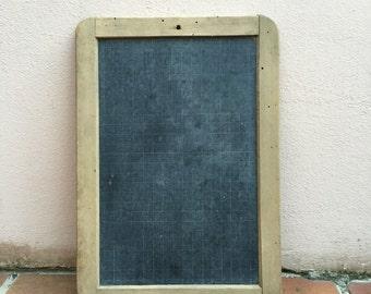 Vintage Childs blackboard,slate chalk board,old school house, french wood 8
