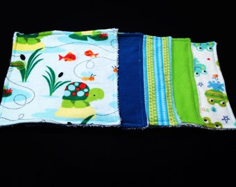 Pond Friends Baby Washcloth, Baby Washcloths, Baby Shower Gift, Baby Washcloth, Baby Gift, Baby Shower, Reusable Cloths, Eco Friendly Wipes