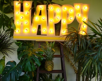"""Enseigne lumineuse """"Happy"""" Just a Spark"""