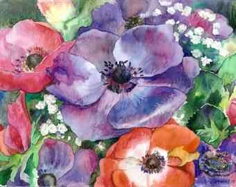 The anemones.