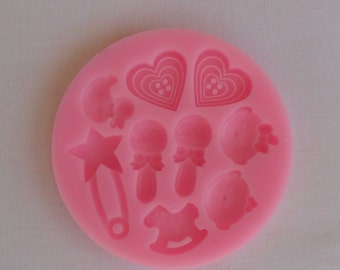 Mold cakes in Silicone 9 sets baby for dough in sugar & Amande Cake Design