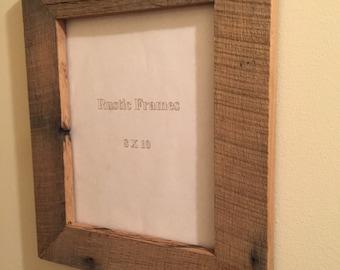 Rustic oak picture frame