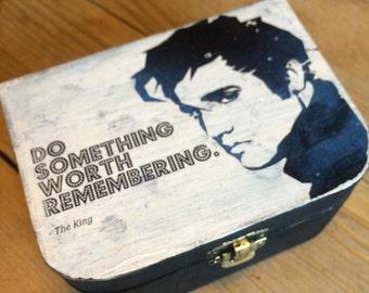 Elvis - Hand painted box