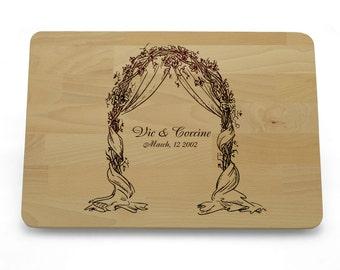 Personalised Cutting Board, Custom Cutting Board Wedding Pergola, Wedding Gift Cutting Board