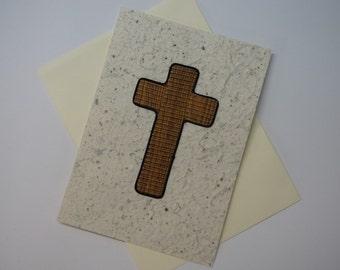 Christian Brown Cross Card