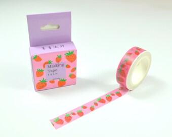 Pink Strawberry Washi Tape - 15mm