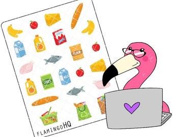Groceries - Planner Stickers