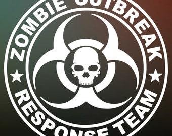 Zombie Outbreak Response Team Vinyl Decal