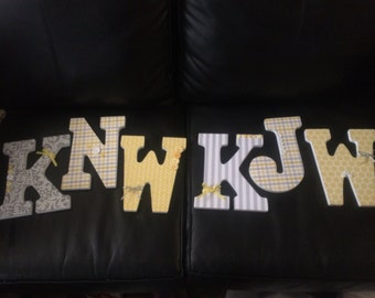 Decorated Wooden Letters
