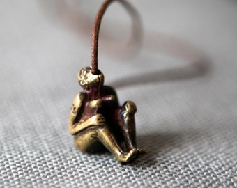 Erotic Bronze Pendant