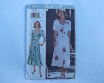 Butterick 3354 pattern dress sizes 6-8-10-12 unused complete 1994
