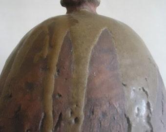Mid Century Modern Pottery Lamp Lava Glaze Signed