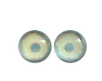 Glass Eyes Hand Painted14mm Zombie Halloween Eye Cabochon