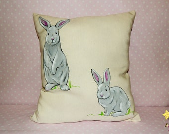 """Cushion made by hand """"Din and Don"""""""