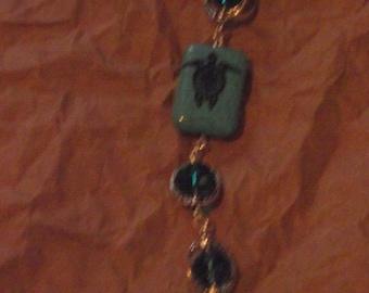 Sea turtle bead bracelet
