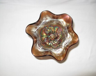 Northwood Iridescent Carnival Glass Compote