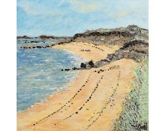 Painting print,Landsacpe print .'Guernsey Coast I', limited edition,wall art,beach,Coastal scene, Guernsey,Impressionist,Giclee