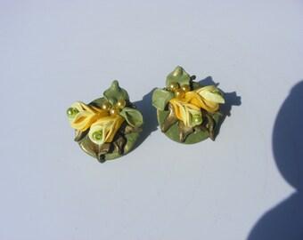 Yello Flower Earrings