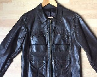 Leather Jacket in Brown 70's