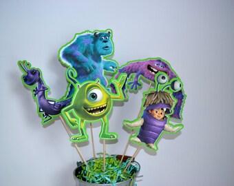Disney Monster Inc Set of 5 Centerpiece Picks (Double-Sided)