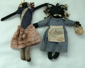 African American Vintage Folk Dolls