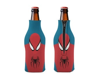 Spider Zipper Style Beer Bottle Coozies / bottle beverage insulator , Cozies  (KB-078)