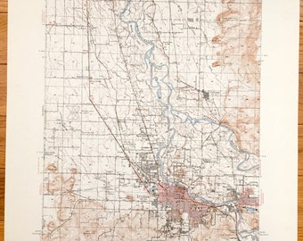 Antique Eugene Oregon 1949 Us Geological Survey Topographic Map Junction City Coburg