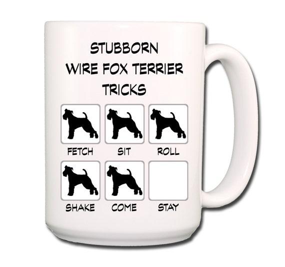 Wire Fox Terrier Stubborn Tricks Large 15 oz Coffee Mug