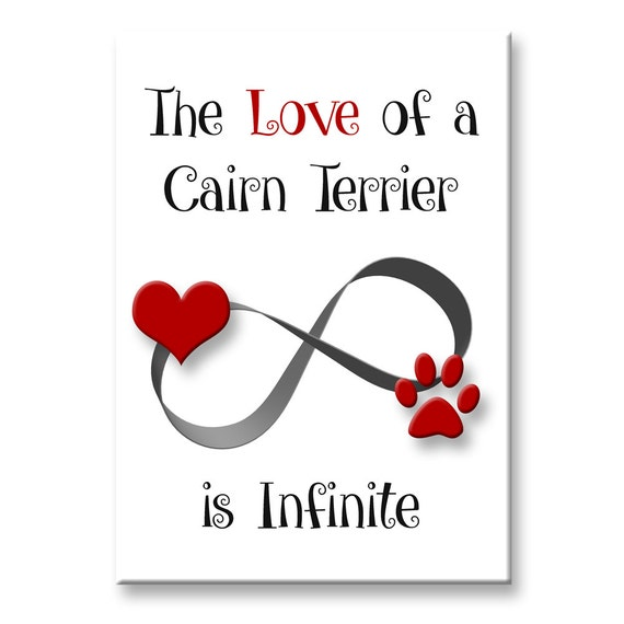 Cairn Terrier Infinite Love Fridge Magnet