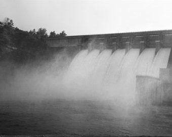 Digital Print Black and White Dam