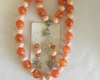 Orange owl set