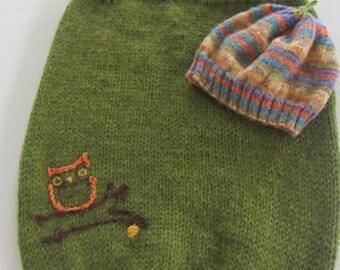 Hand knit sleep sac 0-3 months