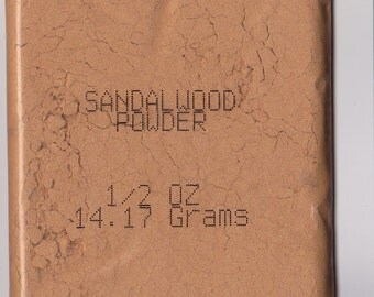 SANDALWOOD POWDER - 1/2 Oz, USA Seller Free Shipping