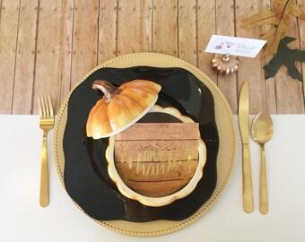 Wood Grain Paper Table Runner