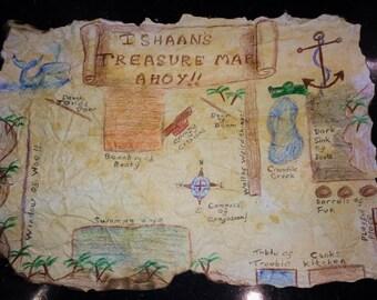 Personalised Pirate Treasure Map