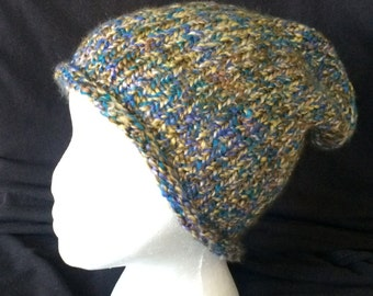 Earthy Blues and Greens Hat