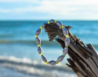 Unique paper bead bracelet