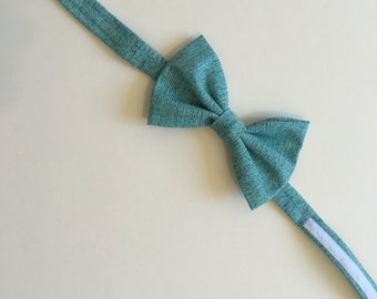 Baby boy blue adjustable bow tie