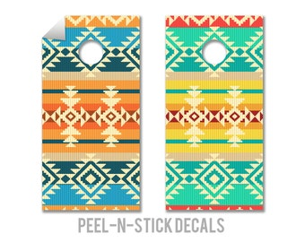 Navajo Pattern Cornhole Board Decals