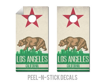 Los Angeles State Flag Skyline Decals