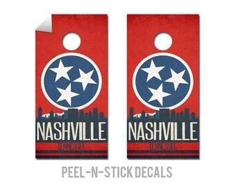 Nashville State Flag Skyline Decals