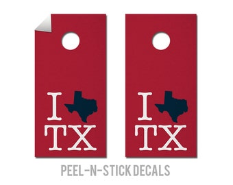 Houston - Texans - State Pride - Cornhole Board Decals
