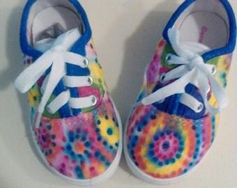 Tie Dye Sneakers Girls
