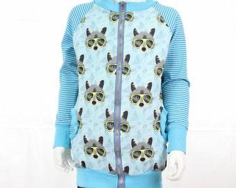 Jacket raccoon racoon Gr. 110/116 sweater Vichy * nikima *.