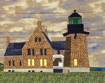 Block Island Southeast, RI Lighthouse quilt pattern